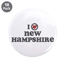 "Don't Heart New Hampshire 3.5"" Button (10 pack)"