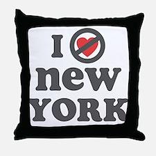 Don't Heart New York Throw Pillow