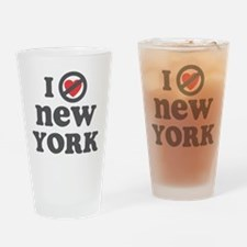 Don't Heart New York Drinking Glass