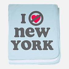 Don't Heart New York baby blanket