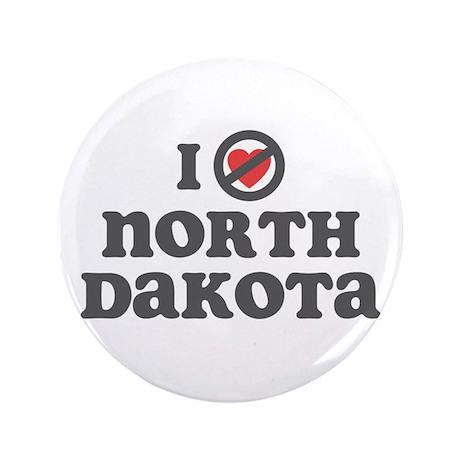 "Don't Heart North Dakota 3.5"" Button (100 pack)"