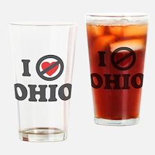 Don't Heart Ohio Drinking Glass