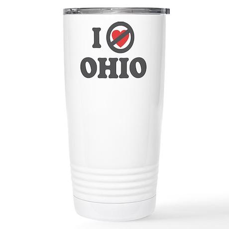 Don't Heart Ohio Stainless Steel Travel Mug