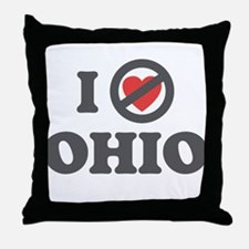 Don't Heart Ohio Throw Pillow