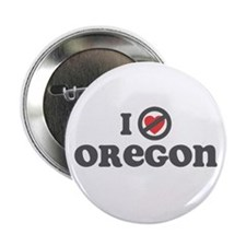 "Don't Heart Oregon 2.25"" Button"
