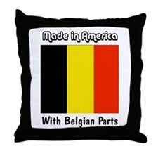 Belgian Parts Throw Pillow