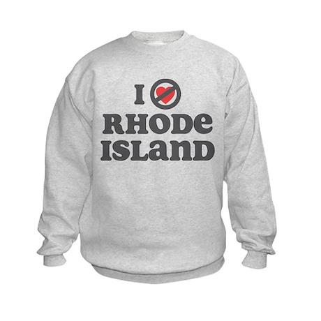 Don't Heart Rhode Island Kids Sweatshirt