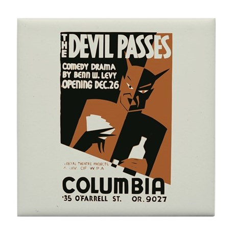 The Devil Passes Tile Coaster