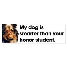 """Smart Dog"" Bumper Bumper Sticker"