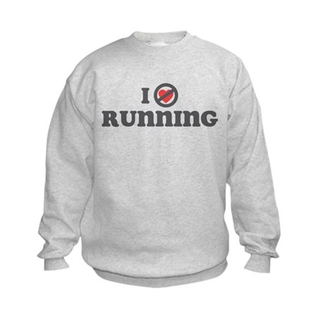 Don't Heart Running Kids Sweatshirt