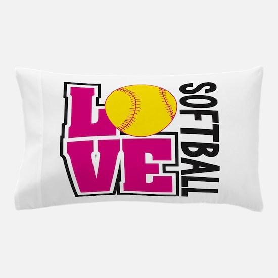 Love Softball Pillow Case