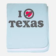 Don't Heart Texas baby blanket