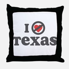 Don't Heart Texas Throw Pillow