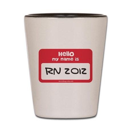 RN 2012 Name Tag Shot Glass