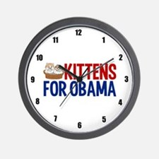 Kittens for Obama Wall Clock