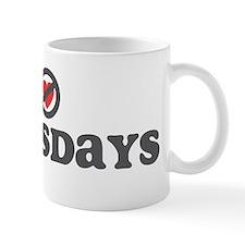 Don't Heart Thursdays Mug