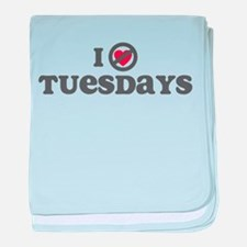 Don't Heart Tuesdays baby blanket