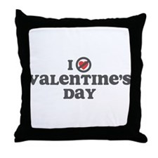 Don't Heart Valentines Day Throw Pillow