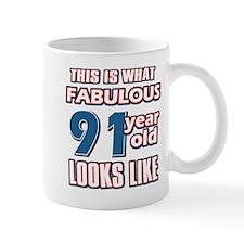 Cool 91 year old birthday designs Mug