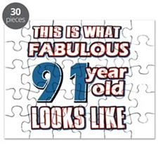 Cool 91 year old birthday designs Puzzle