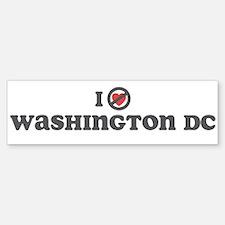 Don't Heart Washington Bumper Bumper Sticker