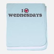 Don't Heart Wednesdays baby blanket