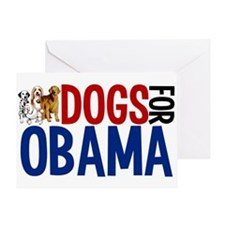 Dogs for Obama Greeting Card