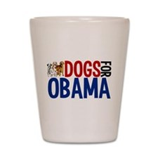Dogs for Obama Shot Glass