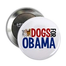 "Dogs for Obama 2.25"" Button"