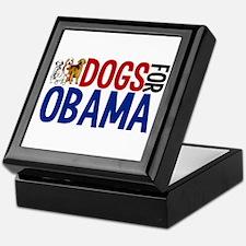 Dogs for Obama Keepsake Box