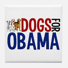 Dogs for Obama Tile Coaster