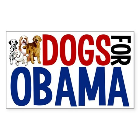 Dogs for Obama Sticker (Rectangle)