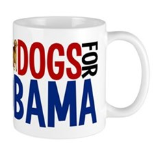 Dogs for Obama Small Mug