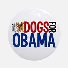 Dogs for Obama Ornament (Round)