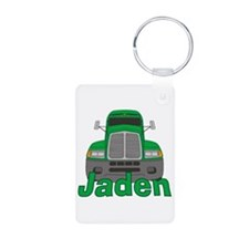 Trucker Jaden Aluminum Photo Keychain