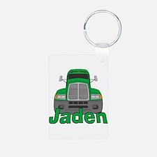Trucker Jaden Aluminum Photo Keychain