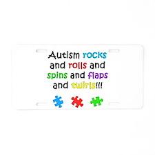 Autism Rocks Aluminum License Plate