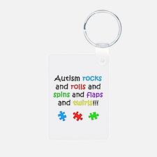 Autism Rocks Keychains