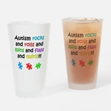Autism Rocks Drinking Glass