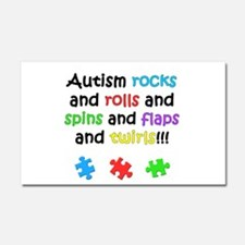 Autism Rocks Car Magnet 20 x 12
