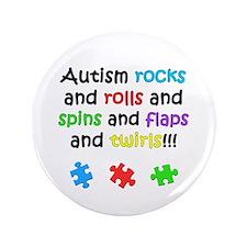 """Autism Rocks 3.5"""" Button"""