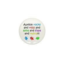 Autism Rocks Mini Button (10 pack)