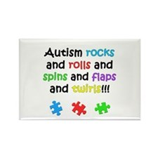 Autism Rocks Rectangle Magnet (10 pack)
