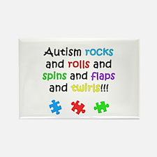 Autism Rocks Rectangle Magnet (10 pack)