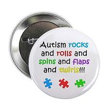 """Autism Rocks 2.25"""" Button (10 pack)"""