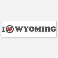 Don't Heart Wyoming Sticker (Bumper)