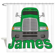 Trucker James Shower Curtain