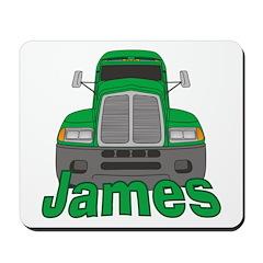 Trucker James Mousepad