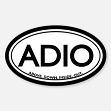 ADIO Chiropractic Oval Decal