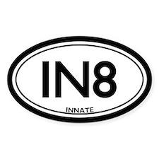 "Chiropractic Innate/""IN8"" Oval Bumper Stickers"